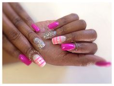 Young Nails acrylic design And ManiQ