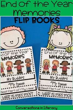 End of the School Year Memory Book!  Flip book for recording school memories is a fun end of the year activity that gets kids thinking about the events of the year and writing about them.  Great keepsake!  Kindergarten, first grade, second grade, third grade
