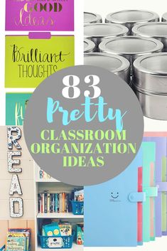 The 83 best classroom organization ideas to get you inspired for the year.  Ideas for elementary school, preschool, or daycare for storage for supplies, bookshelf ideas, teacher carts, dollar  store finds and so much more! #classroomorganization