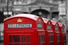 London Red - Phone boxes