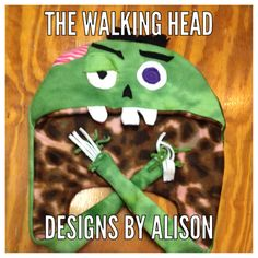 A personal favorite from my Etsy shop https://www.etsy.com/listing/206654243/the-walking-head-zombie-hat