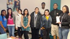 Attached is a pic of a monthly GRAD Ambassador meeting at Sam Houston State University on 4/15.  Aeriel Booth (far right) from the Career Services Center at Sam Houston State University was the invited guest speaker. The group is led by AmeriCorps College Success Service Member, Leroy Harris (back row).