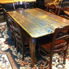 Captivating Dark Old Cypress Table At All Wood Furniture.