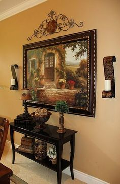 Savvy Seasons by Liz: Dining Room Accessorizing - Tuscan Style! Tuscan Decorating, Interior Decorating, Decorating Ideas, Decor Ideas, Interior Design, Living Room Designs, Living Room Decor, Dining Room, Dining Table