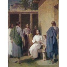 Let the Children Come Unto Me Christoffer W Eckersberg (1783-1853 Danish) Canvas Art - Christoffer W Eckersberg (18 x 24)