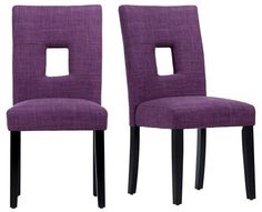 Modern look purple dining chairs, Inspire Q Phelan Keyhole Dining Chair (Set of 2)
