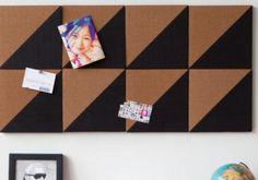 Handig prikbord met geometrische vormen