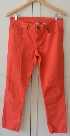 J. Crew city fit orange corduroy pants wms size 27S 27 short EUC FALL #JCrew…