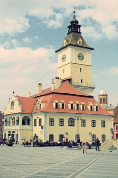 Old Town hall, Brasov city, Romania. Bulgaria, Places To Travel, Places To See, Milan Kundera, Beautiful Places In The World, Future Travel, Eastern Europe, Brasov Romania, The Good Place
