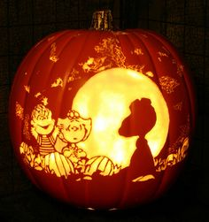 It's the Great Pumpkin!! Best. Carving. EVER!!!!!!