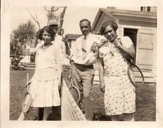 C1930s African American Couples Play Lawn Tennis in Back Yard Vintage Photograph | eBay
