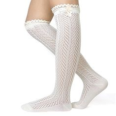 Cozy Design Women's Chevron Pattern Knee High Lace Trim Boot Socks >>> More details can be found by clicking on the image. White Knee High Socks, Black Chevron, Women's Socks & Hosiery, Boot Socks, Winter Collection, Crochet Lace, Lace Trim, Fashion Brands, Fashion Outfits