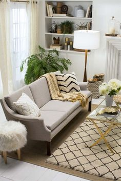 "Emily Henderson's ""How to Style with Neutrals"" for Target.  I love this, it is nice to see neutral furnishings with white walls, because all mine living room furniture are neutral and I was not sure how they would look if I painted the wood paneling white. ~Deborah"