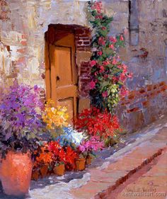 Close some doors today. Not because of pride, incapacity or arrogance, but simply because they lead you nowhere... -Paul Coelho artist: Kent Wallis
