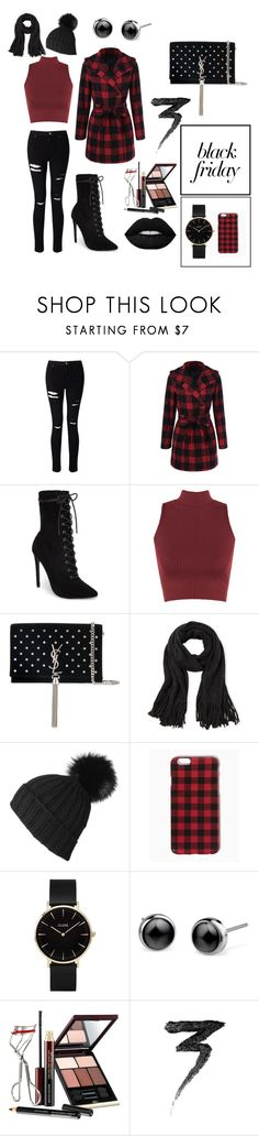 """Perfect Black Friday Outfit"" by irisbenardete ❤ liked on Polyvore featuring Miss Selfridge, Steve Madden, WearAll, Yves Saint Laurent, Black, CLUSE, Kevyn Aucoin and Manic Panic NYC"