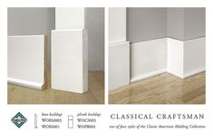What do you think about these baseboards/plinth blocks. regardless of baseboards, I think we should go with the plinths, the rectangles between the door trim and the baseboard. Estilo Craftsman, Craftsman Trim, Craftsman Interior, Interior Trim, Craftsman Style, Craftsman Columns, Craftsman Porch, Craftsman Fireplace, Craftsman Bathroom