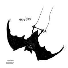 Items similar to Acro-Bat a bat on a trapeze minimalist art printable on Etsy Black Bat, Black White, Abstract Art For Sale, Customizable Gifts, Acro, Minimalist Art, Printable Art, Art Drawings, Art Print