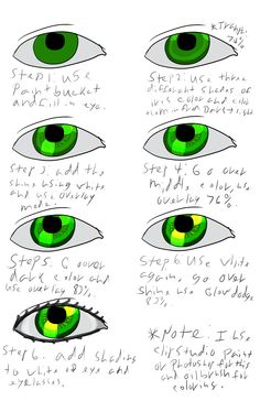 This is a tutorial for how to color eyes my way. I learned this technique myself. Feel free to use it!