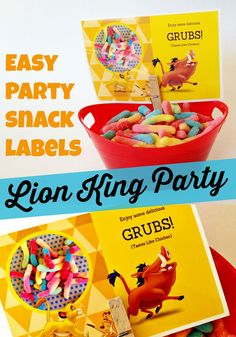 Lion King Party: Easy Printable Party Snack Labels - Free Template Download from MyPrintly