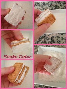 Hem çok pratik hemde fazlasıyla lezzetli :)   Malzemeler:  -4 paket ülker saklıköy bisküvi (ben burçak olanından kullandım)  -2 paket to...