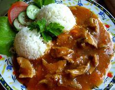 Gulasz wieprzowy z ryżem Kombucha, Chana Masala, Chili, Pork, Beef, Dinner, Ethnic Recipes, Bathroom, Kitchens