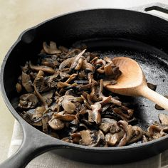 Many mushrooms are a good source of antioxidants, and because they release moisture when cooked, only a teaspoon of oil is needed to saute them.