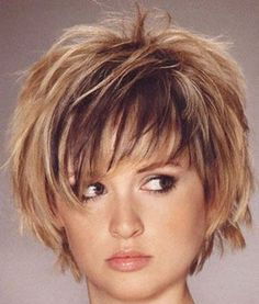 Choppy Layered Hairstyles | Choppy Layered Graduated Hair Cuts Heavy on Short Bob Harstyles Short ...