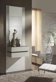 meuble dentre moderne miroirs oslone coloris blanc et gris cendr