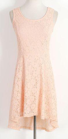 Pink Lace Sleeveless Dress