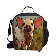 Orange New Brand Children Lunch Bag Original Tiger Style Thermal Bag For Food Outdoor Shoulder Lunchbox Lancheira Escolar