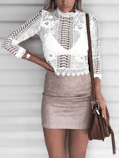 White Delicate Crochet Lace Hollow Out Top