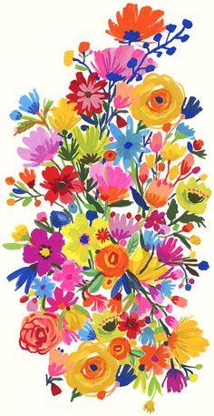 print & pattern blog : Carolyn Gavin flowers