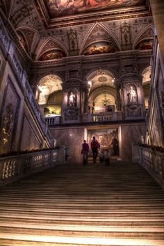 Stairway of Naturhistorisches Museum, Vienna