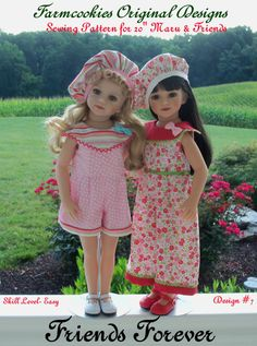 PDF Sewing Pattern FRIENDS FOREVER for 20 by FarmcookiesDesigns