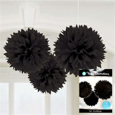 For over the entryway... Black Fluffy Decorations from Windy City Novelties