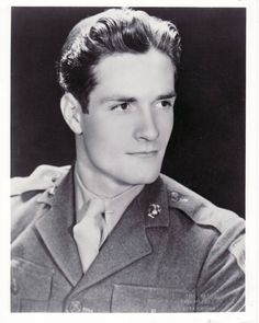 Hugh O'Brian, American actor was the youngest Marine drill instructor. -- Hugh O'Brian (born Hugh Charles Krampe, April is an American actor, known for his starring role in the ABC western television series, The Life and Legend of Wyatt Earp. Hollywood Actor, Hollywood Stars, Classic Hollywood, Old Hollywood, Military Veterans, Military Men, Military Service, Hugh O'brian, Famous Marines