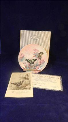 1989 W.S George Lena Liu Zebra Swallowtails Butterflies On Gossamer Wings Plate / $32 inc shipping