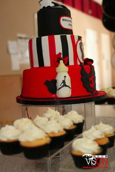 Jordan themed babyshower   Atlanta ,GA   Www.prrfectparties.com  Cakesbylameeka.com