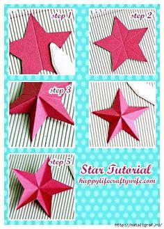 Как сделать 3D звезду