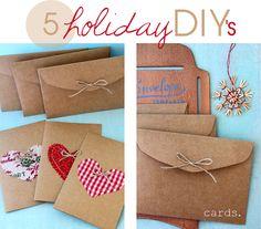 Kraft paper cards & envelopes