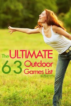 We racked our brains to come up with a complete Outdoor Games List! Your backyard will not be the same this Summer. This list is not just the boring Ladderball and Cornhole (though those are included) but features games like Rampshot, Tikitoss, Kubb, Mo List Of Outdoor Games, Outdoor Party Games, Backyard Games, Outdoor Toys, Outdoor Fun, Backyard Kids, Outdoor Stuff, Activities For Teens, Games For Teens