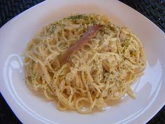 Espaguetis con salsa de anchoas