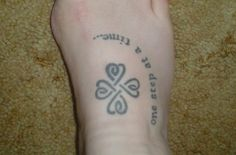 celtic four leaf clover tattoo