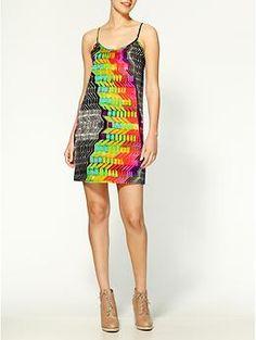 Tucker Shirred Cami Silk Mini Dress | Piperlime