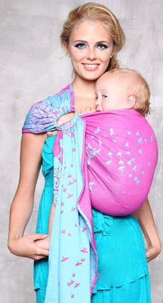 Still a cute babywrap for little girls. kokadi wrap ringsling Erna im Wunderland - 100% cotton