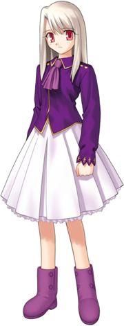 Illyasviel von Einzbern (イリヤスフィール・フォン・アインツベルン, Iriyasufīru fon Aintsuberun?), often referred to as Ilya,[3] is the Master of Berserker in the Fifth Holy Grail War of Fate/stay night. She is the daughter of Kiritsugu Emiya and Irisviel von Einzbern, both whom participated in the Fourth Holy Grail War, and the adoptive older sister of Shirou Emiya.