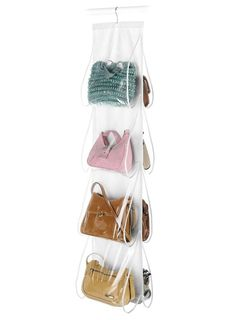 Hanging Purse Organizer. Space Savers For Small Closets | Apartment Therapy