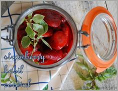 notes from maggie's farm: farmstead strawberry basil cordial