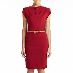 MNG by Mango® Belted Short-Sleeve Sheath Dress - jcpenney