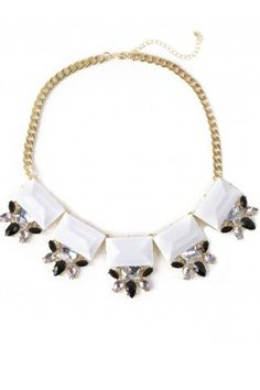 5 Stone Stunner Necklace $22